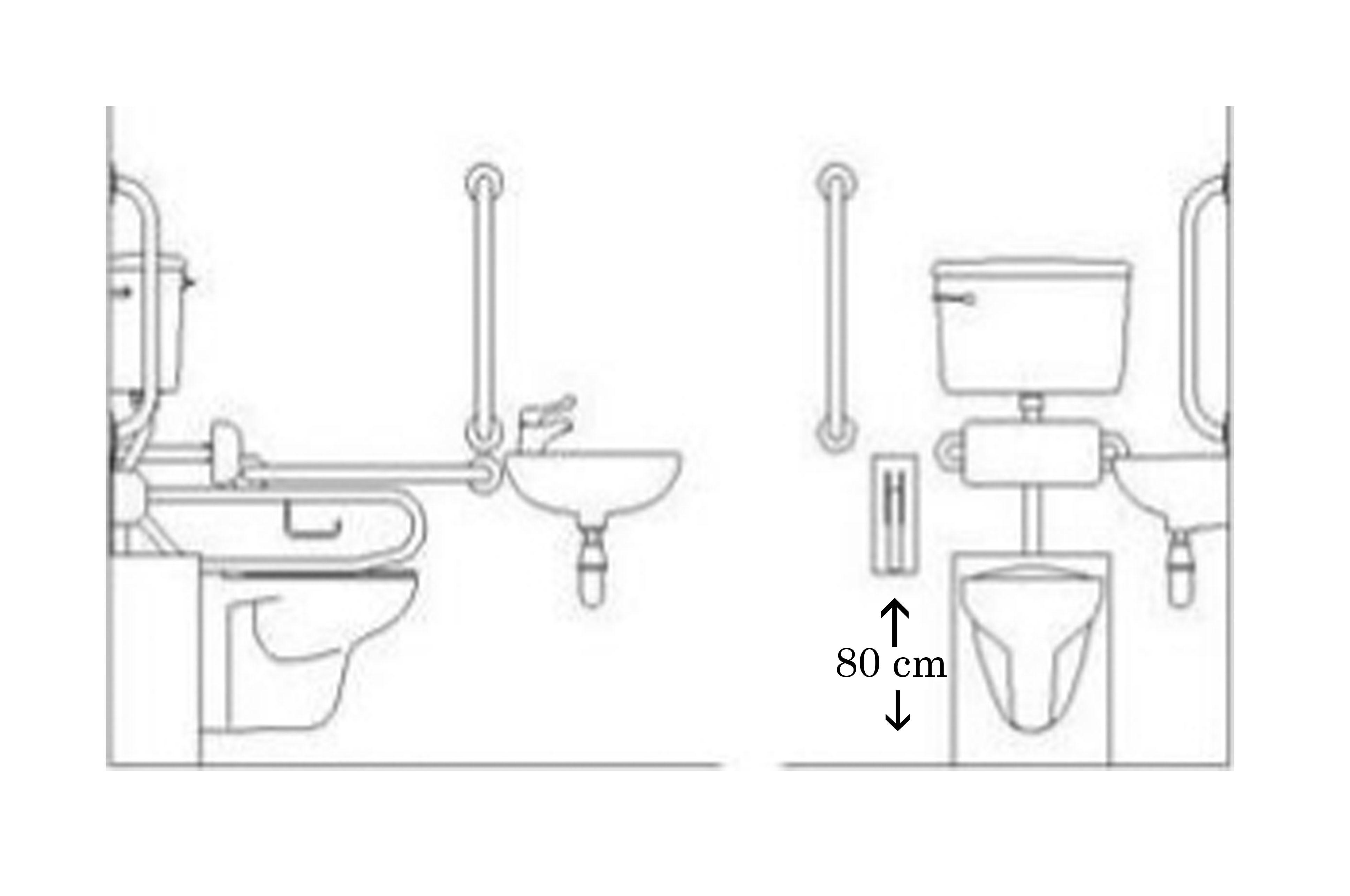Maniglione di sicurezza ribaltabile per bagno disabili - Misure per bagno disabili ...